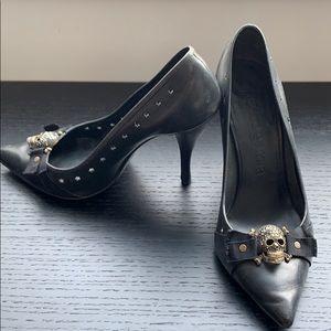 Pedro Garcia heels w/ Swarovski skulls